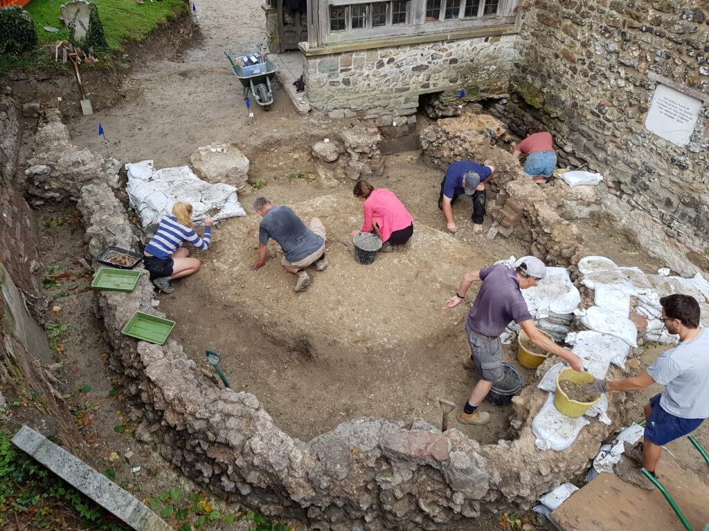 Excavation of the chancel of the Anglo-Saxon church