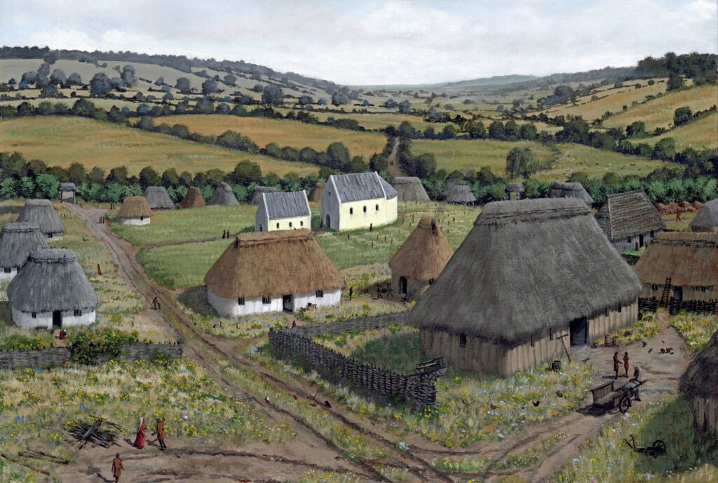 Archaeological reconstruction of Lyminge Monastery